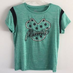 Disney Minnie Mouse sport tee 14/16 girls green